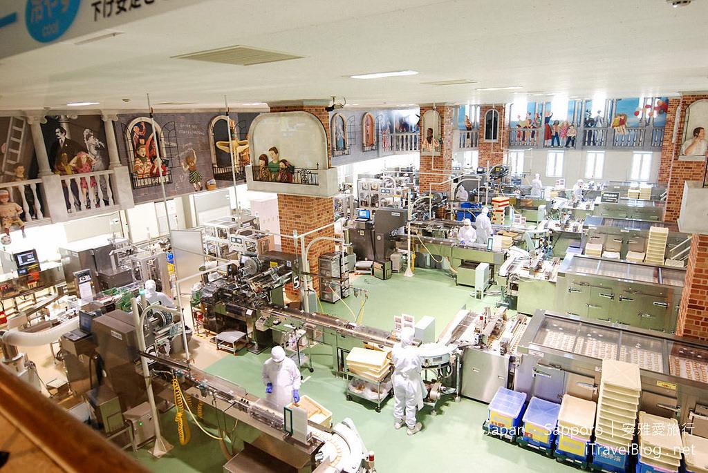 《札幌景點推薦》北海道札幌白色戀人公園:包裝標籤收藏、白色戀人巧克力生產線(ファクトリーウォーク)。