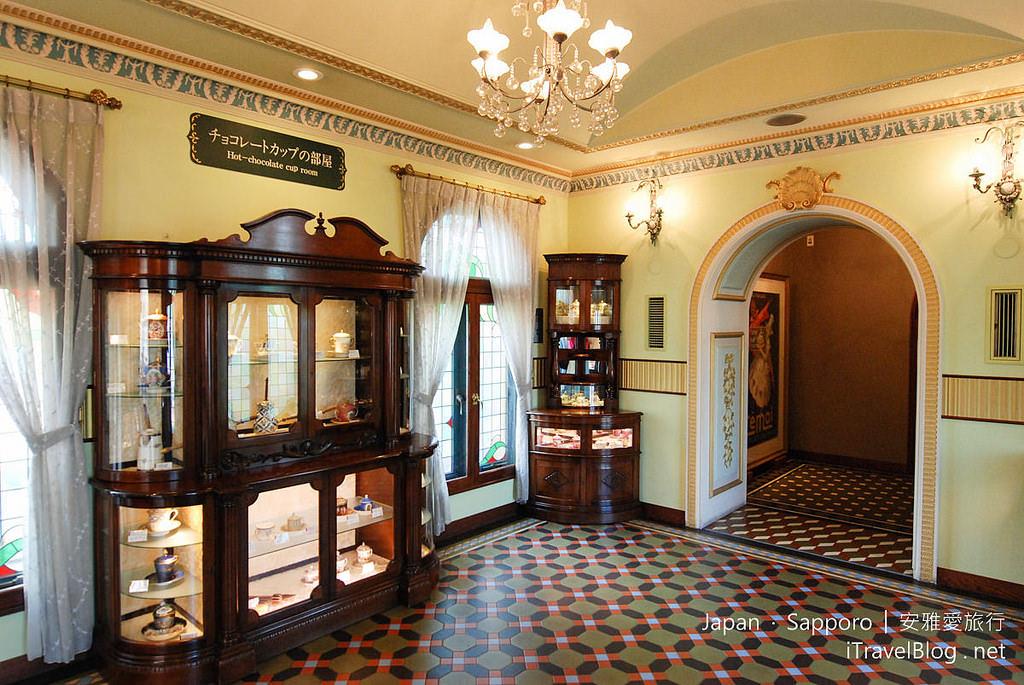 《札幌景點推薦》北海道札幌白色戀人公園:極光之泉、巧克力杯收藏室(ファクトリーウォーク)。