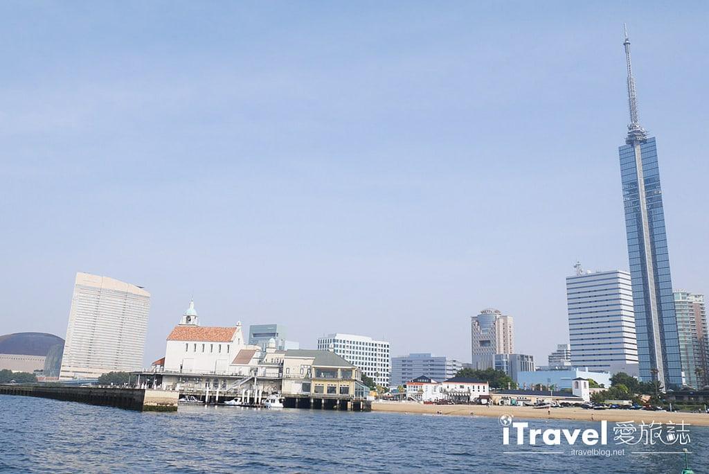 《福岡乘船體驗》博多灣汽船航線:搭乘安田海上接駁船,快速往返海之中道與福岡塔兩地景點。